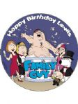 7.5 Personalised Family Guy Icing or Wafer Cake Top Topper 2011